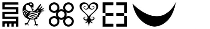 Adinkra Symbols Font UPPERCASE