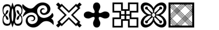 Adinkra Symbols Font LOWERCASE