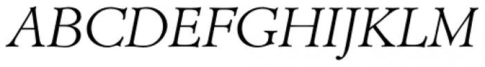 Administer Light Italic Font UPPERCASE