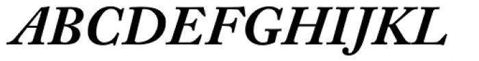 Adobe Caslon Bold Italic Oldstyle Figures Font UPPERCASE
