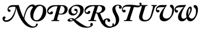 Adobe Caslon Bold Italic Swash Font UPPERCASE