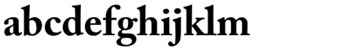 Adobe Caslon Bold Font LOWERCASE