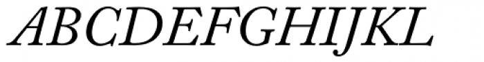 Adobe Caslon Italic Oldstyle Figures Font UPPERCASE