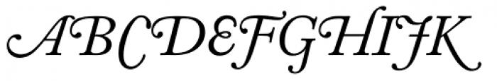 Adobe Caslon Italic Swash Font UPPERCASE