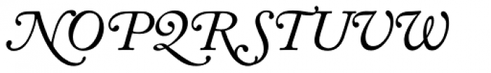 Adobe Caslon Italic Swash Font LOWERCASE