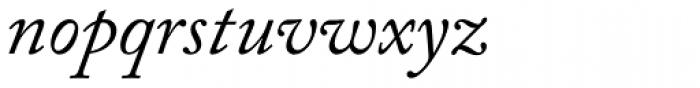 Adobe Caslon Italic Font LOWERCASE