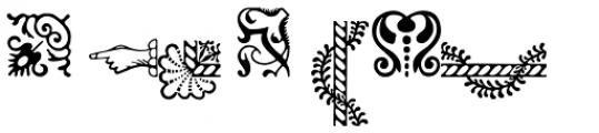 Adobe Caslon Ornaments Font UPPERCASE