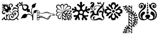 Adobe Caslon Ornaments Font LOWERCASE