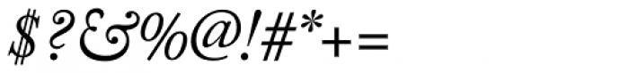 Adobe Caslon Pro Italic Font OTHER CHARS