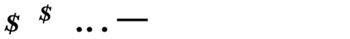 Adobe Caslon SemiBold Italic Expert Font OTHER CHARS