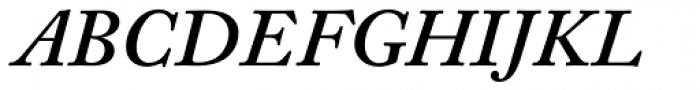 Adobe Caslon SemiBold Italic Oldstyle Figures Font UPPERCASE