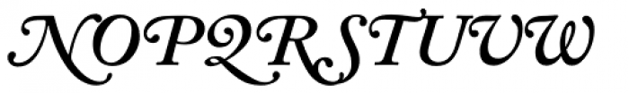 Adobe Caslon SemiBold Italic Swash Font UPPERCASE