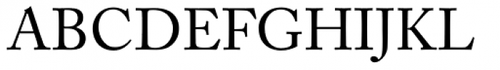 Adobe Caslon Font UPPERCASE