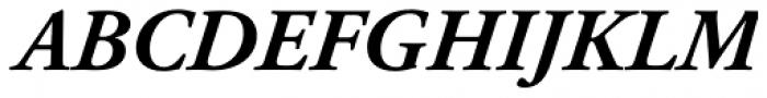 Adobe Garamond Bold Italic Font UPPERCASE