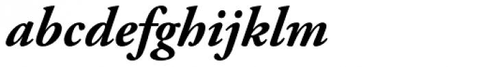 Adobe Garamond Bold Italic Font LOWERCASE