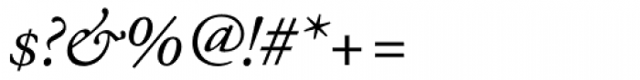 Adobe Garamond Italic Oldstyle Figures Font OTHER CHARS