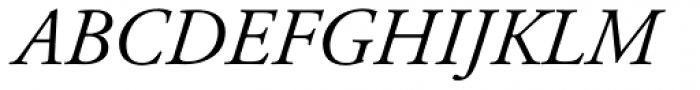 Adobe Garamond Italic Oldstyle Figures Font UPPERCASE
