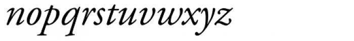 Adobe Garamond Italic Oldstyle Figures Font LOWERCASE