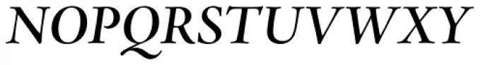 Adobe Jenson Pro SubHead SemiBold Italic Font UPPERCASE