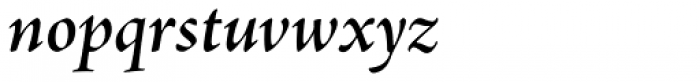 Adobe Jenson Pro SubHead SemiBold Italic Font LOWERCASE