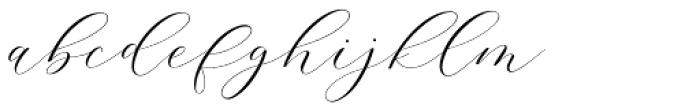 Adore Calligraphy Regular Font LOWERCASE