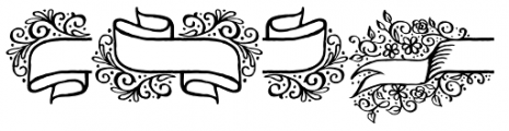 Adorn Banners Font LOWERCASE