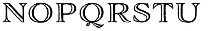 Adorn Engraved Expanded Font UPPERCASE