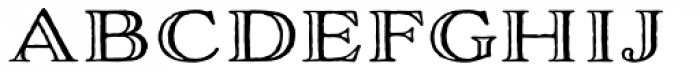 Adorn Engraved Expanded Font LOWERCASE
