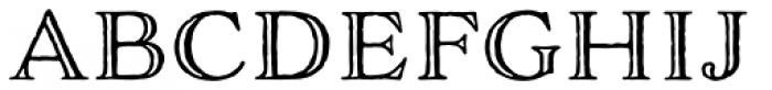 Adorn Engraved Font UPPERCASE