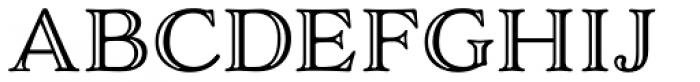 Adorn Smooth Engraved Font UPPERCASE