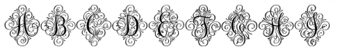 Adorn Solo Font LOWERCASE