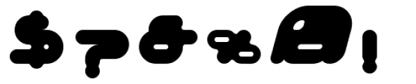Adrenalin Bubble Font OTHER CHARS