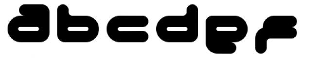 Adrenalin Bubble Font LOWERCASE