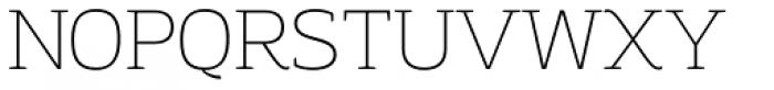 Adria Slab Thin Upright Italic Font UPPERCASE