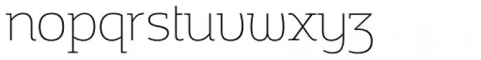 Adria Slab Thin Upright Italic Font LOWERCASE