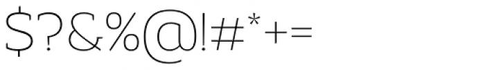 Adria Slab Thin Font OTHER CHARS