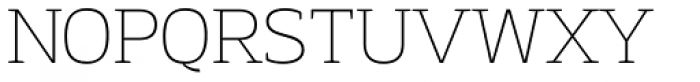 Adria Slab Thin Font UPPERCASE