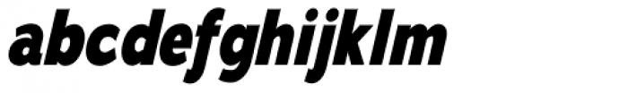 Adrianna Cond ExtraBold Italic Font LOWERCASE