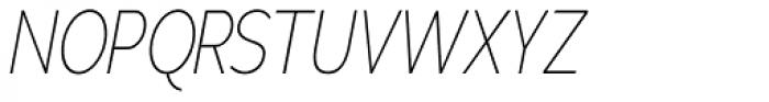 Adrianna Cond Thin Italic Font UPPERCASE