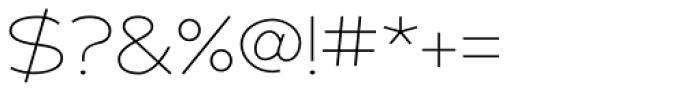 Adrianna Extd Thin Font OTHER CHARS