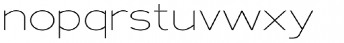 Adrianna Extd Thin Font LOWERCASE