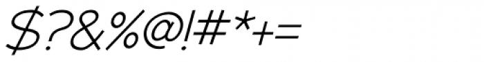 Adrianna Light Italic Font OTHER CHARS