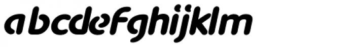 Advance Black Italic Font LOWERCASE