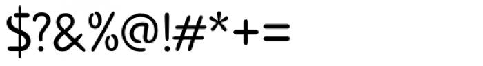Advance Regular Font OTHER CHARS