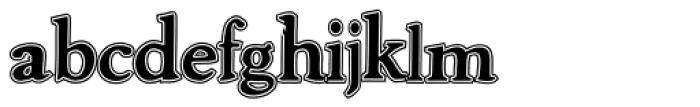 Advantage Lined Font LOWERCASE