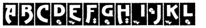 Advertising Gothic Plain Font UPPERCASE
