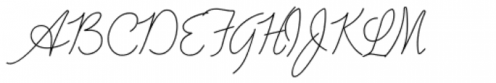 Advertising Script Monoline Font UPPERCASE