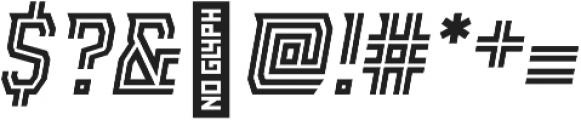 AE Armada Inline Italic otf (400) Font OTHER CHARS