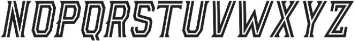 AE Armada Inline Italic otf (400) Font UPPERCASE