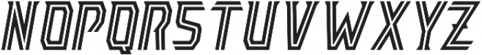 AE Armada Inline Italic otf (400) Font LOWERCASE